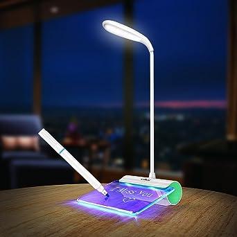 Cuadro de Mensajes, SUAVER Táctil LED Lámpara de Escritorio ...