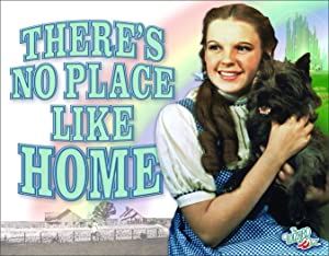 """Desperate Enterprises The Wizard of Oz - There's No Place Like Home Tin Sign, 16"""" W x 12.5"""" H"""