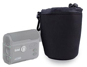 Duragadget jet schwarz neopren entfernungsmesser tasche case in