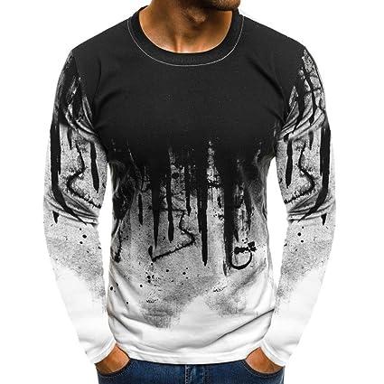 eeb1da93 Amazon.com: Men Short Sleeve T Shirt,Vanvler Male Print Muscle Blouse Boys  { Slim Fit Top} (L, A White): Arts, Crafts & Sewing