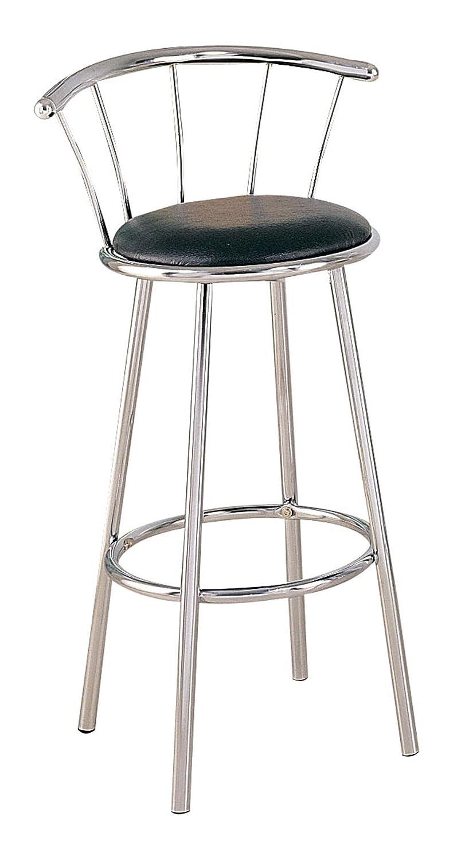 Blue//Chrome Acme Furniture 02045BU Cucina Bar Chair with Swivel Set of 2