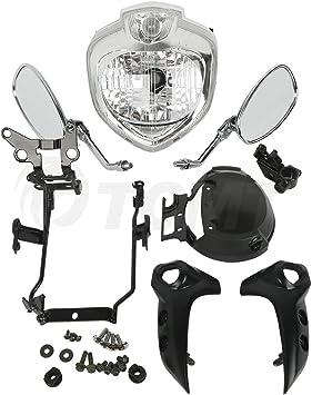 Headlight Set Head Light Kit Assembly For Yamaha FZ6N FZ6S fazer 2007-2010 08 09