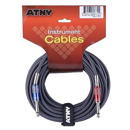 Amazon Com Atny Gc 20gr Guitar Cable 20 Ft Premium Electric