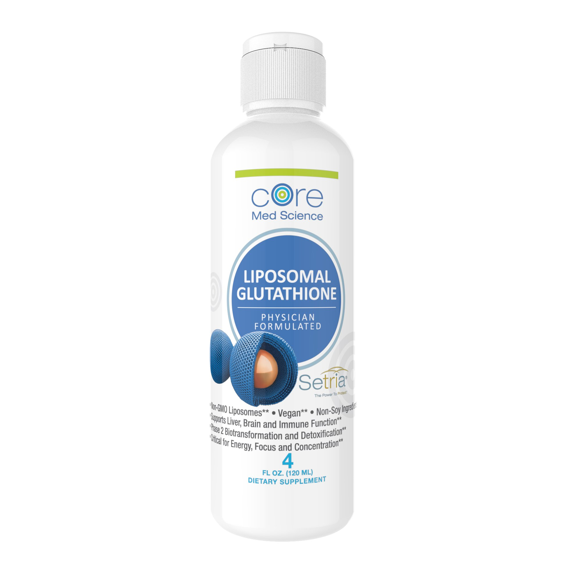 "Optimized Liposomal Glutathione 500 mg – China Free Reduced L-Glutathione ""Setria"" brand + Phosphatidylcholine 500mg 
