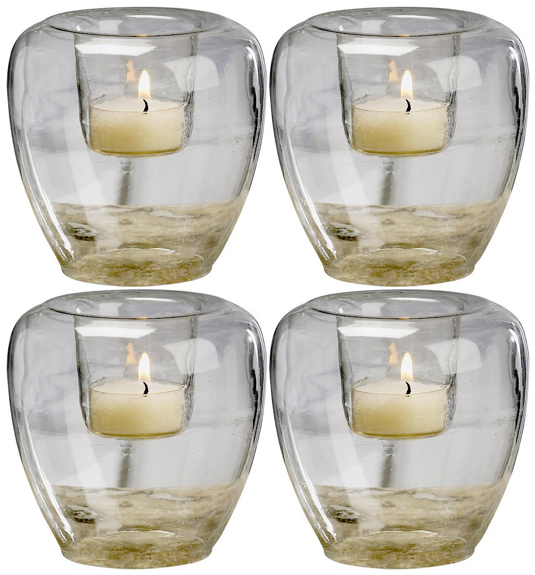 Set of 4 Biedermann Home Decor HJ643C Biedermann Add Your Own Theme Bubble Glass Votive Candle Holders