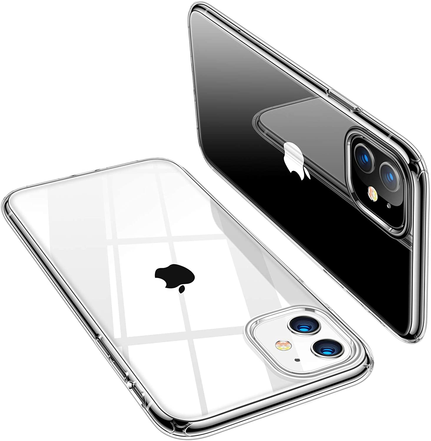 TORRAS Compatible with iPhone 11 Case, Crystal Clear iPhone 11 Cases, [Anti-Yellowing] Ultra Thin Slim Fit Shockproof Flexible TPU Rubber Phone Case for iPhone 11 6.1 inch, Crystal Clear