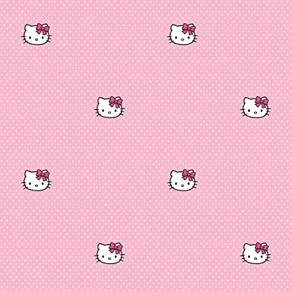 Kidshomeiii Childrens Paper Wallpapero Kitty Pink Polka Dots Collection Amazon Co Uk Diy Tools