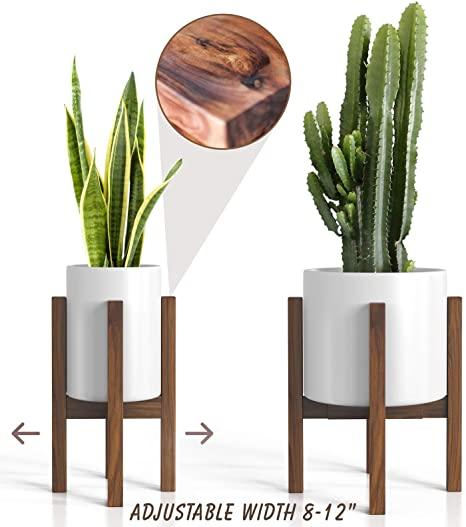 Amazon Com Mid Century Plant Stand Adjustable Modern Indoor