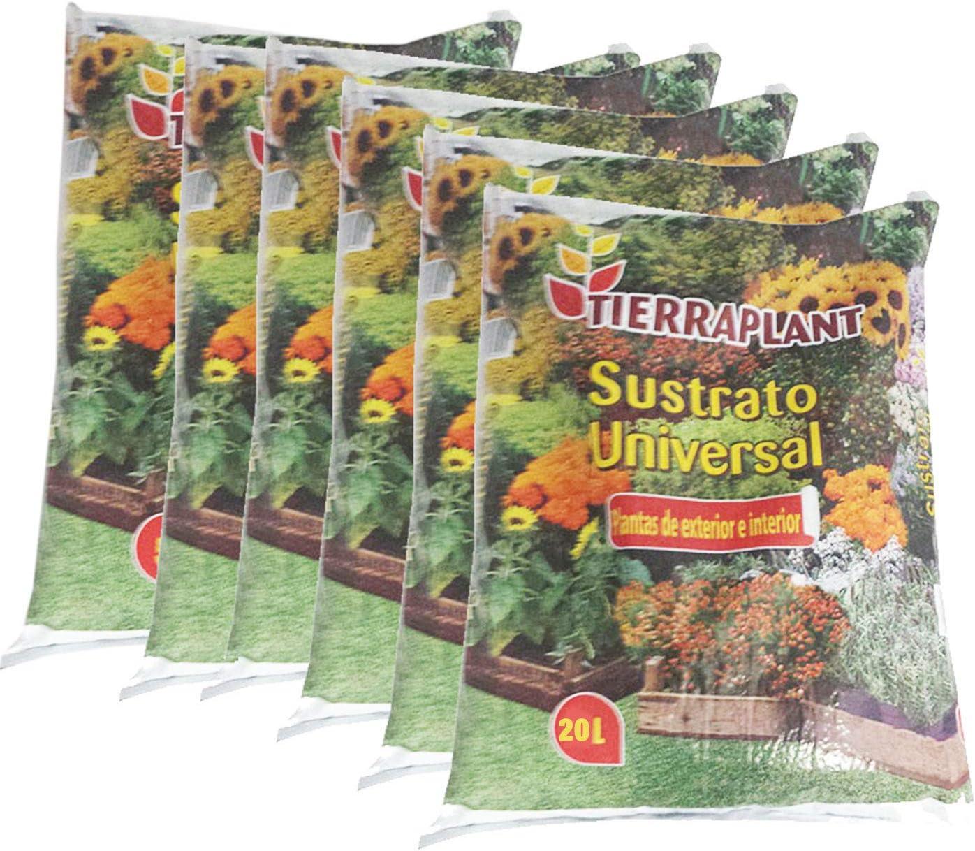 Tierraplant - Pack de 6 Sustrato Universal 20 L