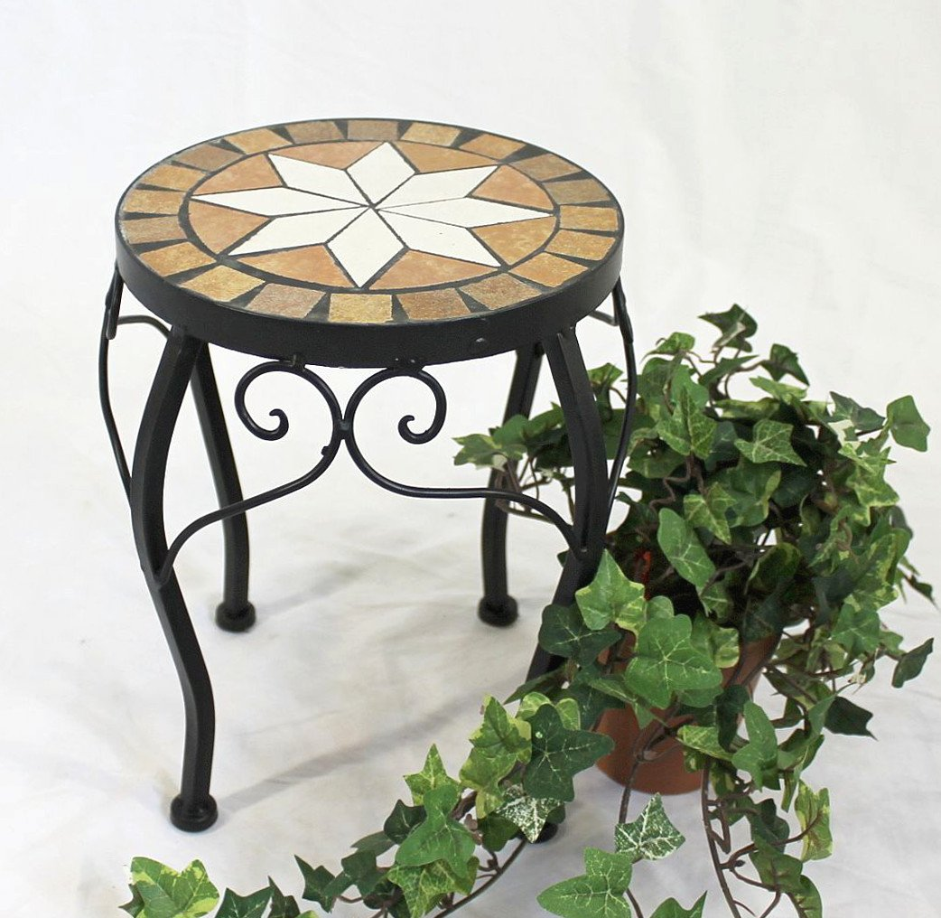 Stool Merano Mosaic 12014 Flower stand 20cm Stool round Side table DanDiBo
