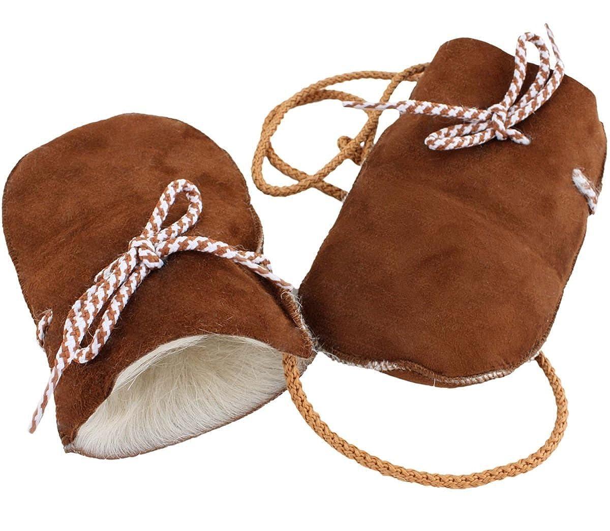 Sonia Originelli Baby Fausthandschuhe Lammfell Kordel F/äustlinge Handschuhe