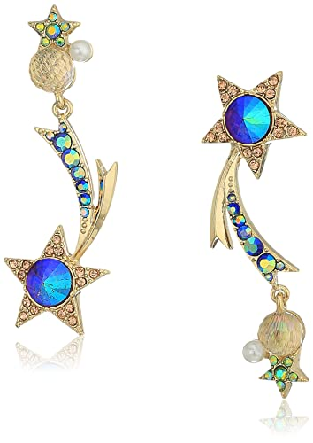 5aff653d4 Amazon.com: Betsey Johnson Colorful Multi-Stone Shooting Star ...