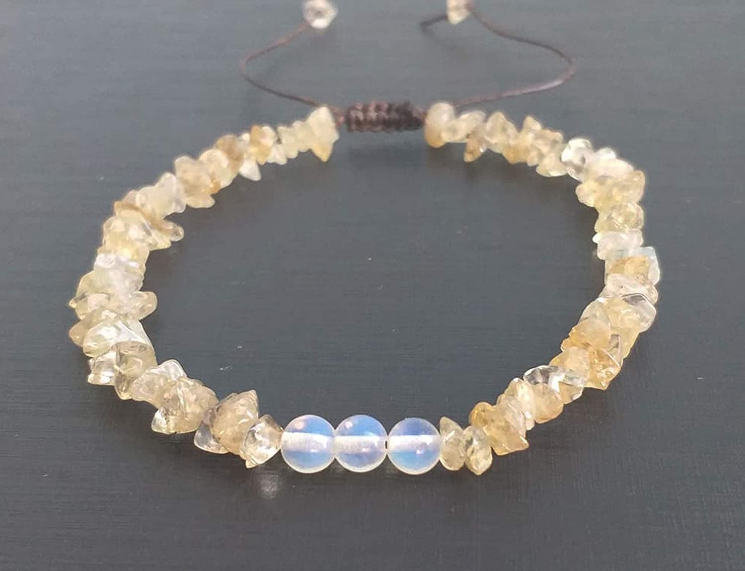 Citrine stone anklets opal anklets yellow anklets white anklets gemstone anklets friendship anklets beaded anklets men women