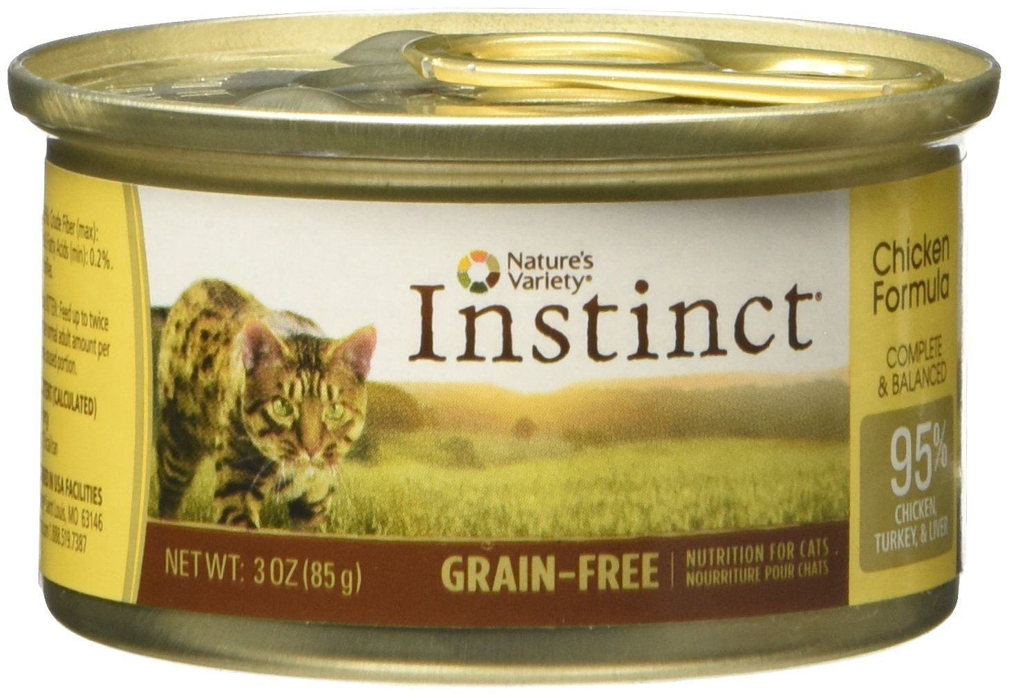 Amazon.com : Natures Variety Instinct Chicken Formula Canned Cat Food 24/3oz Cans : Canned Wet Pet Food : Pet Supplies