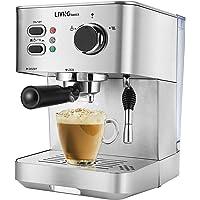LIVINGbasics 2 in 1 Espresso Machine with Milk Frother, Cappuccino Maker, Latte Maker, 15 Bar Espresso Coffee Maker, 51…
