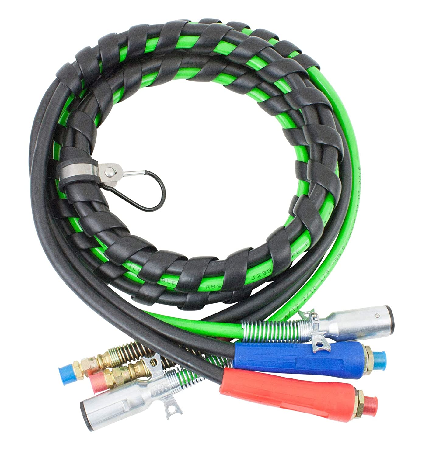 Mytee Products 3-in-One Wrap 7 Way Electrical Green ABS Air Brake Lines 15 Ft