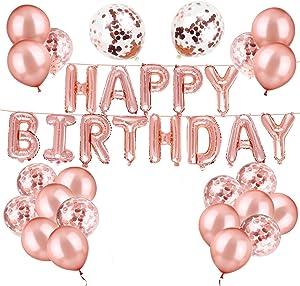Happy Birthday Balloons Confetti Balloons Kit Birthday Party Decorations and Supplies (happy birthday+ ballons)
