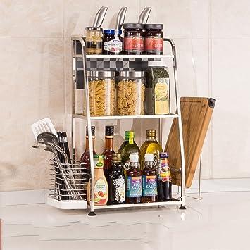 Bobe Shop Kuche Regal Edelstahl Boden Sauce Shelf Regal Regal Kuche