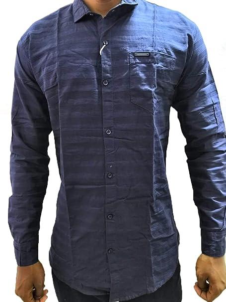 4a8e4fe7d2 Branded Fashion Men Regular Fit Cotton Shirt (Blue): Amazon.in ...