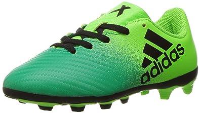 adidas Boys  X 16.4 FxG J Skate Shoe Solar Black Core Green fb5b633b1c
