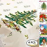 4pz Natale tovaglia monouso tovaglia di biancheria da tavola di stoviglie per la cucina cena picnic all' aperto, 110*180cm
