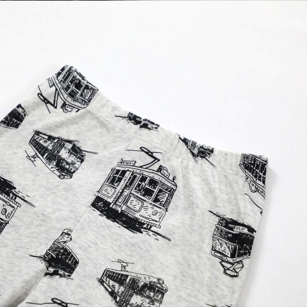 Little Boys Pyjamas Train Christmas Nightwear Sleepwear Long Sleeve Pjs Set for Kids Toddler 1-2 Years 2T