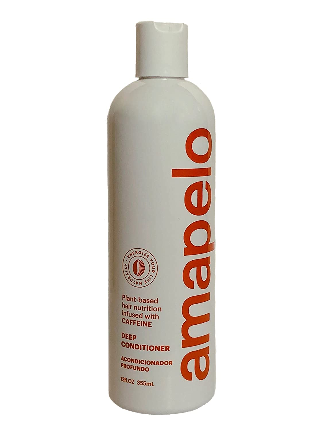 Amapelo Deep Conditioner with Caffeine - Energize your Life Naturally - 12 fl. Oz. Bottle
