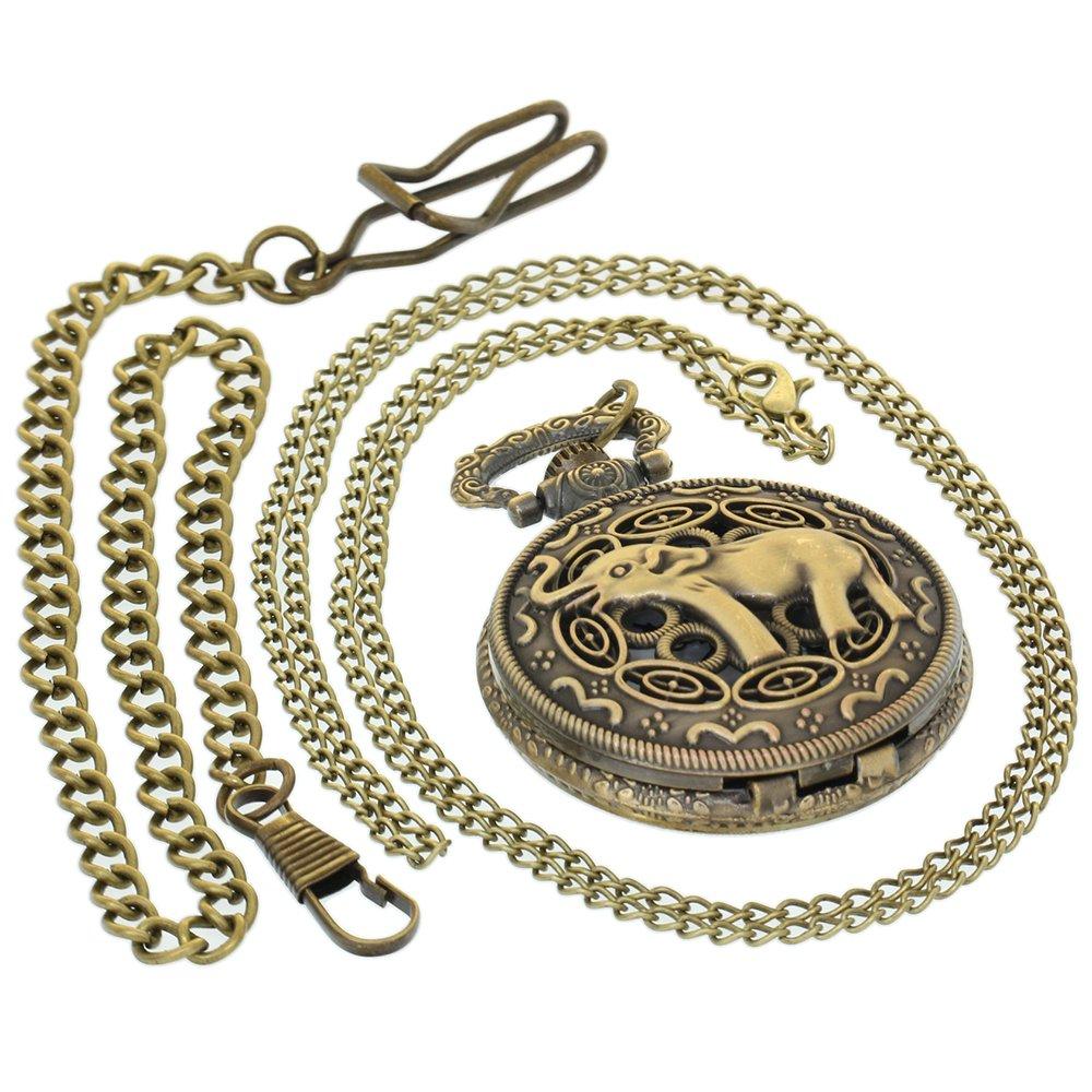 Reloj de Bolsillo de Bronce Vintage de latón Envejecido ...