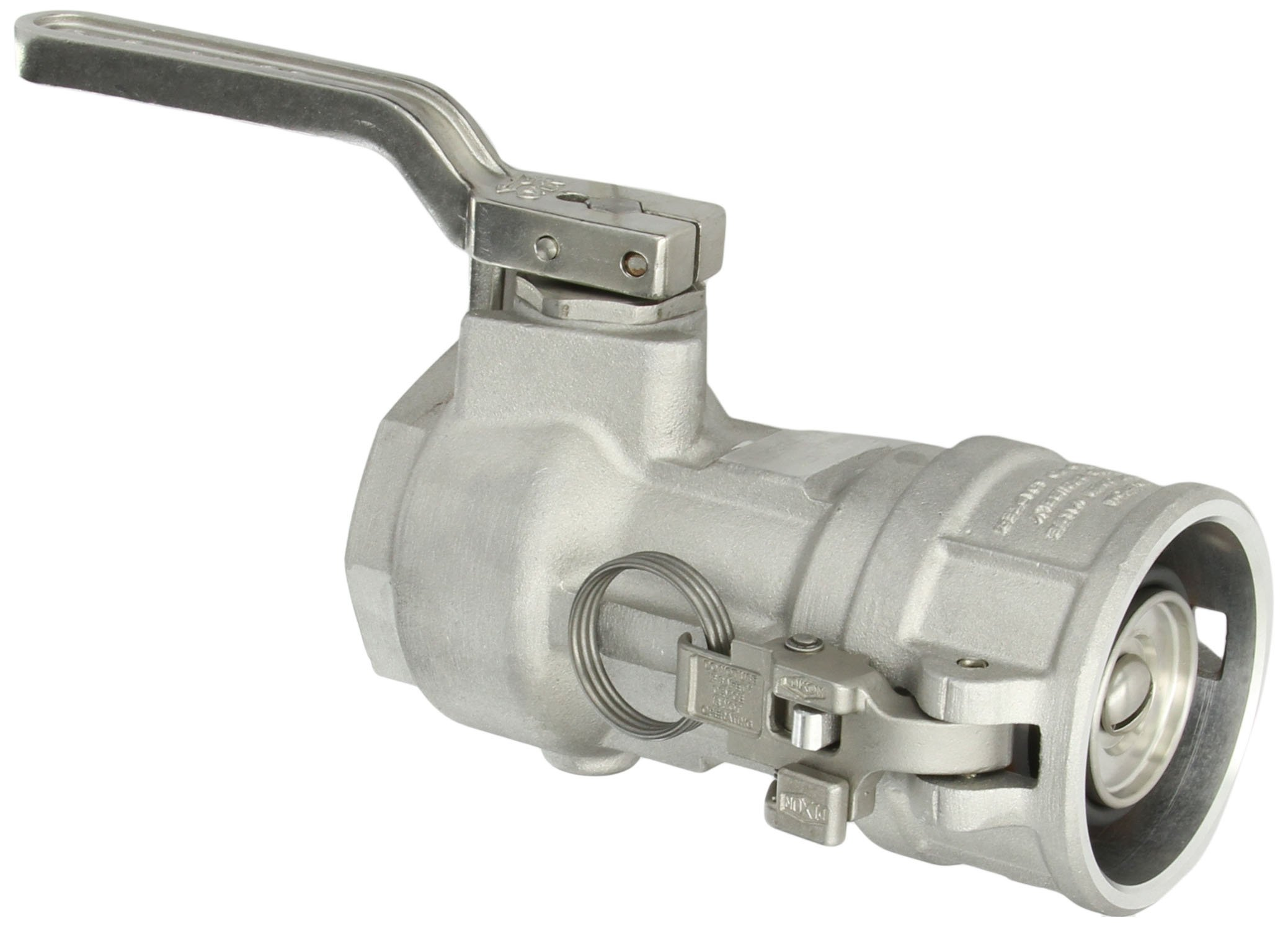 Dixon DBC61-300 Aluminum Dry Break Cam and Groove Dry Disconnect Hose Fitting, 4'' Socket x 3'' NPT Female