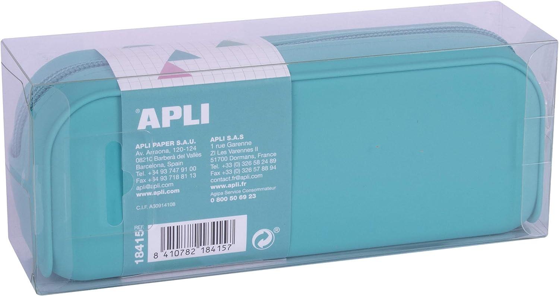 APLI 18415 - Estuche silicona Nordik Collection - Azul cielo: Amazon.es: Oficina y papelería