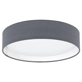 Pasteri 1 Light Flush Ceiling Light Shade Colour  GreyPasteri 1 Light Flush Ceiling Light Shade Colour  Grey  Amazon co  . Flush Ceiling Light Shades. Home Design Ideas