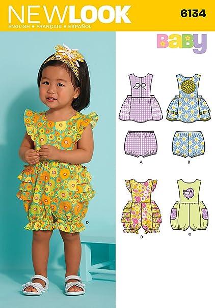 26344a1ed Amazon.com  Simplicity New Look Baby Pattern 6134 Babies Dress ...