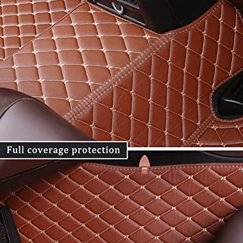 AutoTech Zone Custom Fit Heavy Duty Custom Fit Car Floor Mat 2011-2017 Volkswagen Jetta Sedan Beige Brown All Weather Protector 4 Piece Set