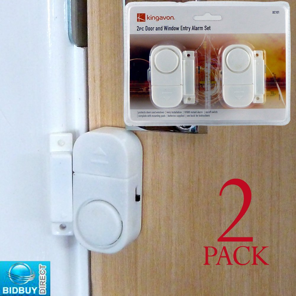 BRAND NEW - PACK OF 2 TWIN DOOR AND WINDOW ENTRY ALARM SET ...
