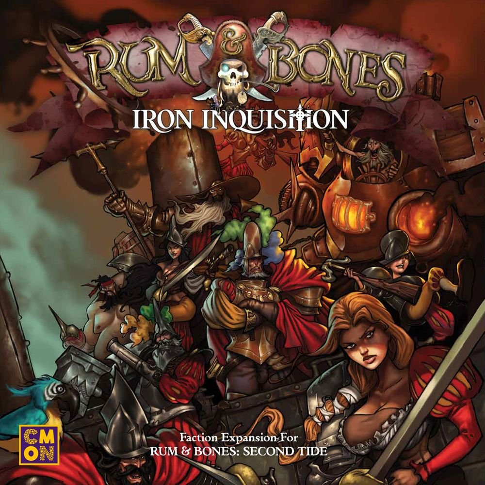 CMON Rum & Bones Second Tide Iron Inquisition Strategy Board Game
