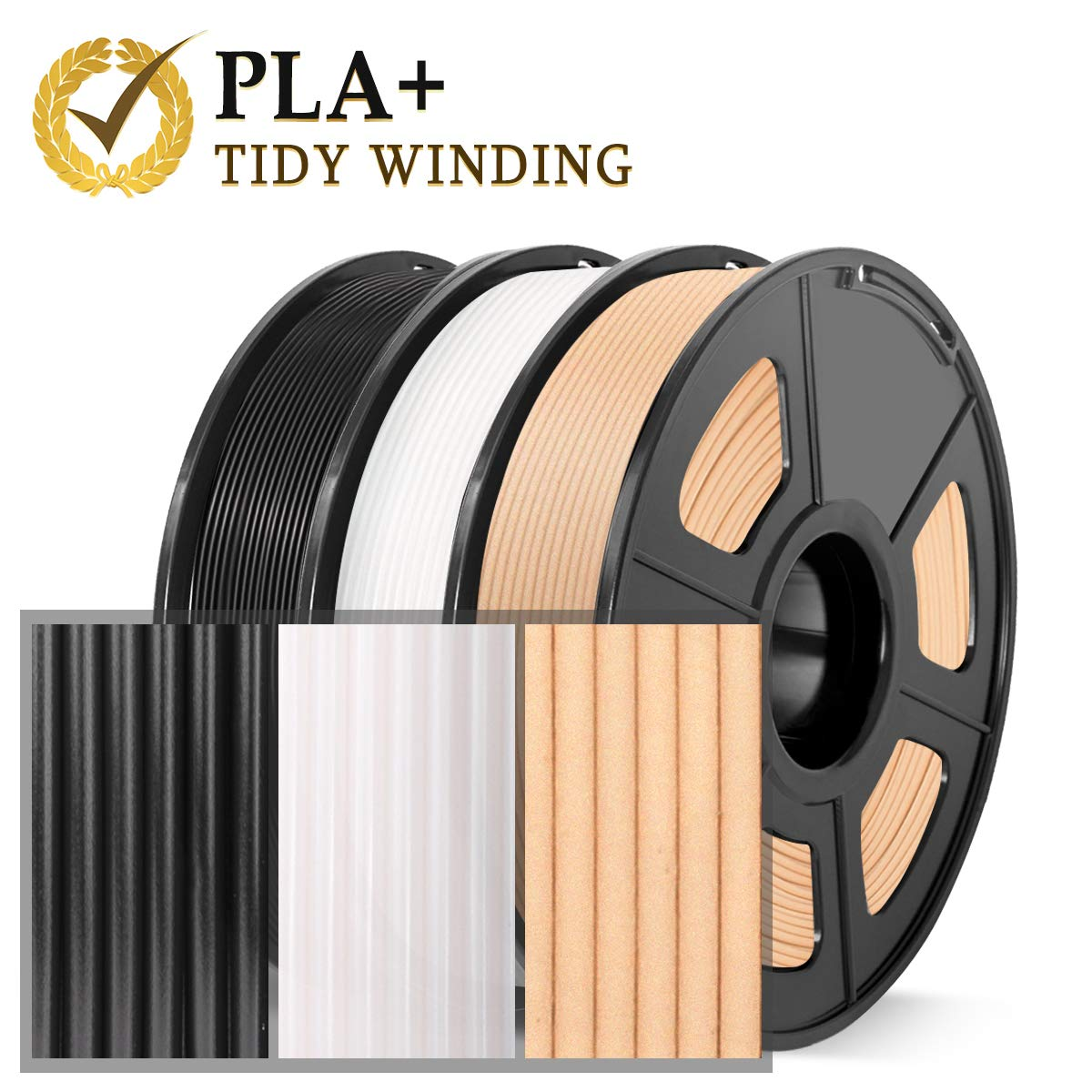 negro 2.2 lb filamento de fibra de carbono PLA de 1.75 mm Filamento de impresora 3D de fibra de carbono filamento de impresora 3D extremadamente r/ígido 1 kg