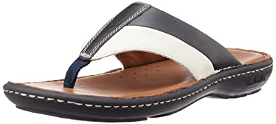 0cb2b5b605fc Clarks Men s Villa Beach Black Combi Leather Sandals and Floaters - 6.5 UK