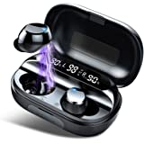 Tiksounds Wireless Earbuds, Bluetooth Headphones with Microphone, IPX7 Waterproof, HiFi Stereo Earphones, 150H Playtime with