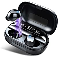 Auriculares Inalámbricos, Auriculares Bluetooth 5.0 3500mAh 150H Playtime IPX7 Impermeable con Caja de Carga y Mic…