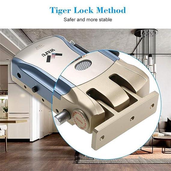 WAFU Smart Lock HF-008 habilitado y pantalla táctil Keyless Smart Lock Deadbolt con alarma incorporada: Amazon.es: Bricolaje y herramientas