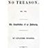 No Treason: The Constitution of No Authority (Complete Series)