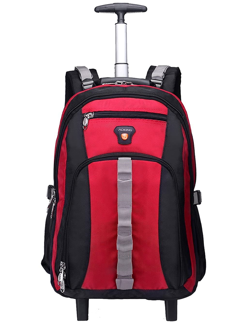 AOKING 20/22 Inch Water Resistant Travel School Business Rolling Wheeled Backpack with Laptop Compartment