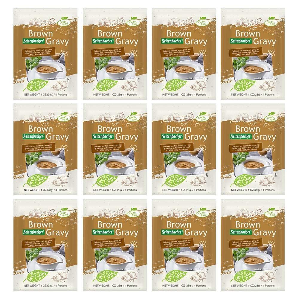 Seitenbacher Gluten-Free Vegetarian Brown Gravy Mix, 1 Ounce Package (Pack of 12) by Seitenbacher