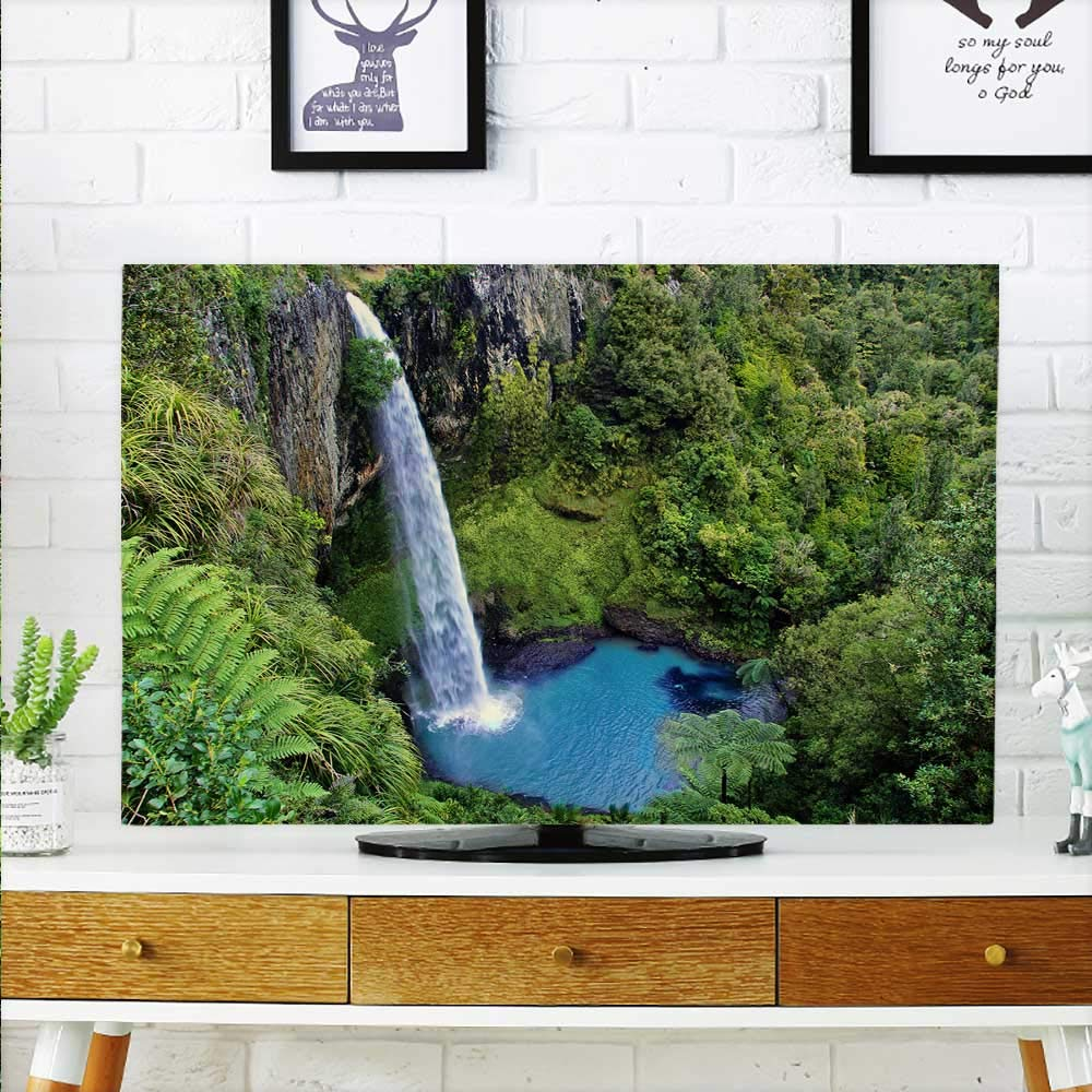 aolankaili Protect Your TV The Waterfall, Like a Ribbon, Connects The Mountains to The Earth Protect Your TV W20 x H40 INCH/TV 40''-43''