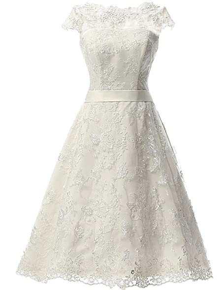 Wedding dress vintage lace short