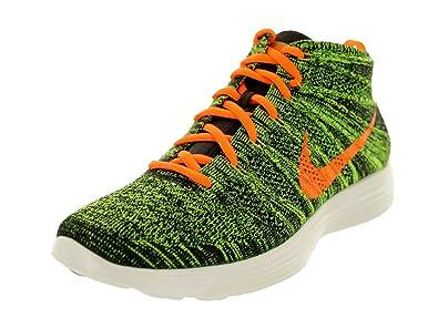 Nike Lunar Flyknit Chukka 554969 080 Grün Schwarz Orange Größe 47 48,5