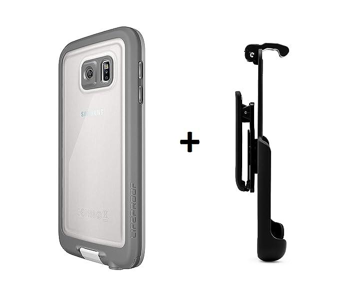 best deals on b410f bdff8 LifeProof FRE Samsung Galaxy S6 Waterproof Case - Retail Packaging -  Avalanche (White/Grey) (White/Grey Plus Belt Clip)