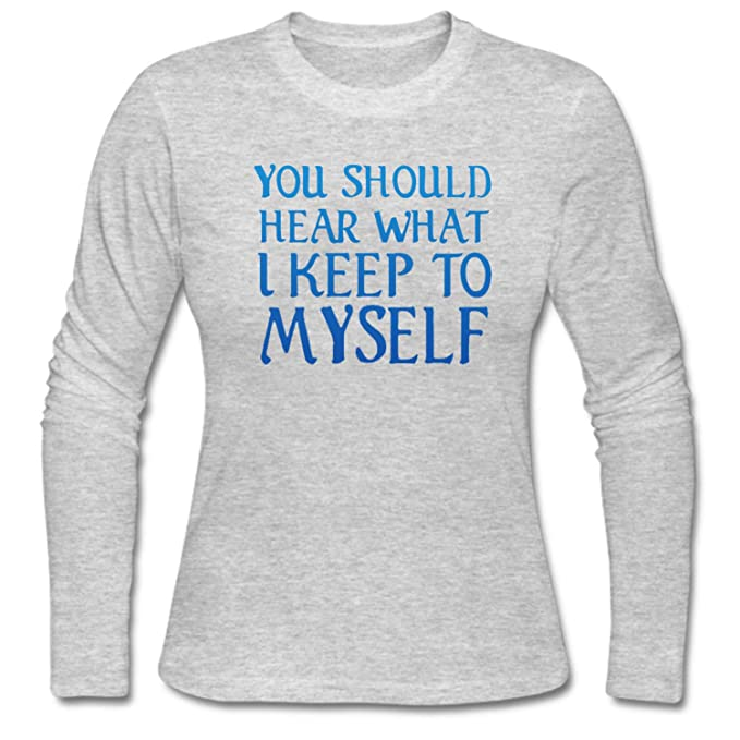 38c560080 WYLIN Women's You should Hear What I Keep To Myself T-Shirt at Amazon  Women's Clothing store: