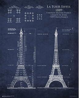 Olympics london 2012 london skyline 33 x 95 cm art print amazon eiffel tower 1889 blueprint art print poster 24x30 malvernweather Images