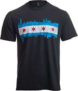 Amazon Com Chicago Illinois Flag T Shirt Vintage Distressed Shirt